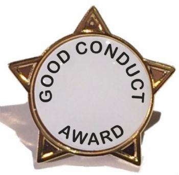 GOOD CONDUCT AWARD star badge